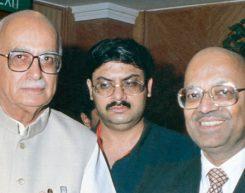Mr. L. K. Advani, Union Minister of Home and Mr. Kantikumar Podar, Bombay