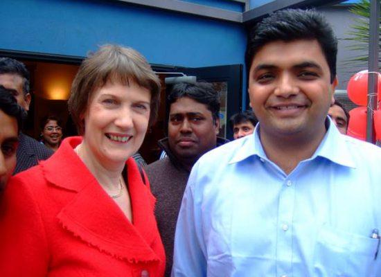 Mr. Amit Pujara, Director Podar Enterprise with HE Mrs. Helen Prime Minister of New Zealand